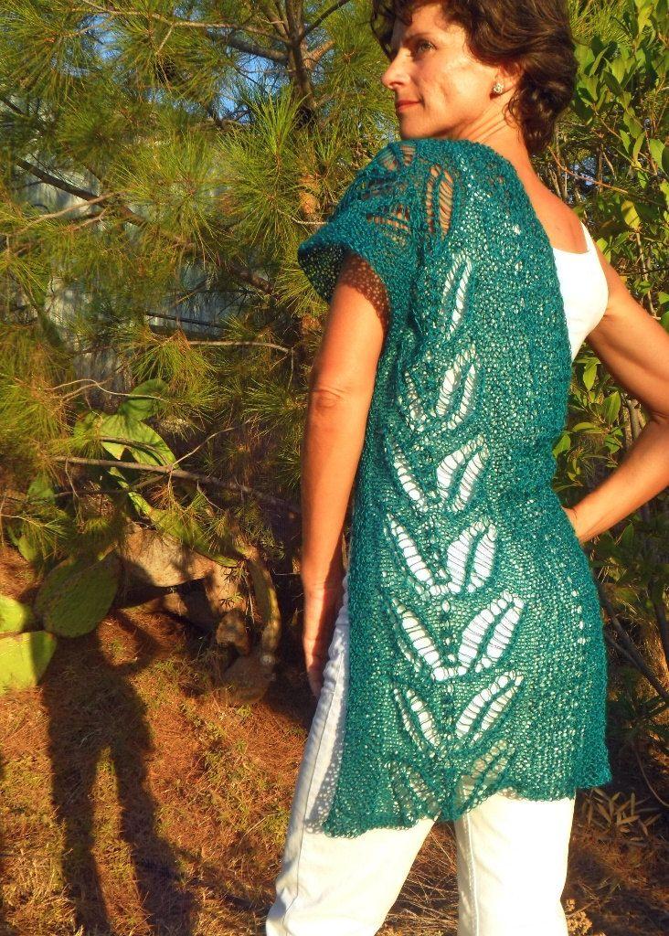 Silverleaf, handknitted shawl/wrap by SimonaStyleByHand on Etsy