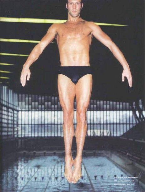 Jason Statham competing in diving at the 1990 Commonwealth Games in Auckland