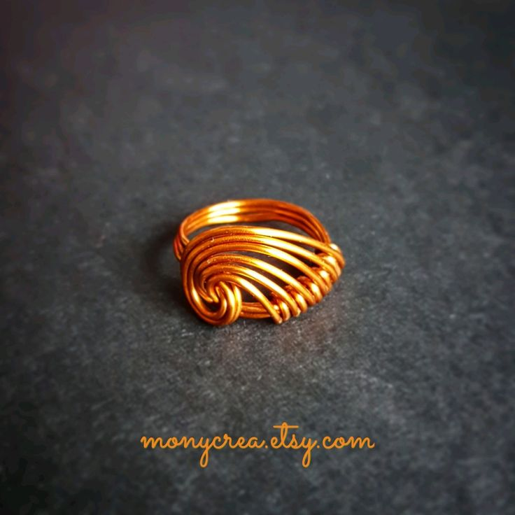 """Copper ring """"Welle"""", available on www.monycrea.etsy.com"""