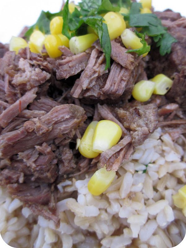 Slow Cooker Chipotle's Barbacoa Beef Recipe from Sixsistersstuff.com