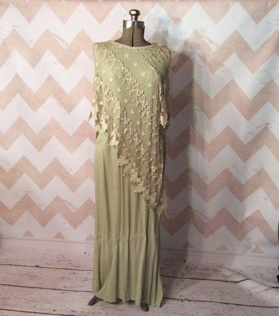 Lynn Yang Magnet Art Vintage Ladies Slip Dress/Full Length $75.00 ETSY