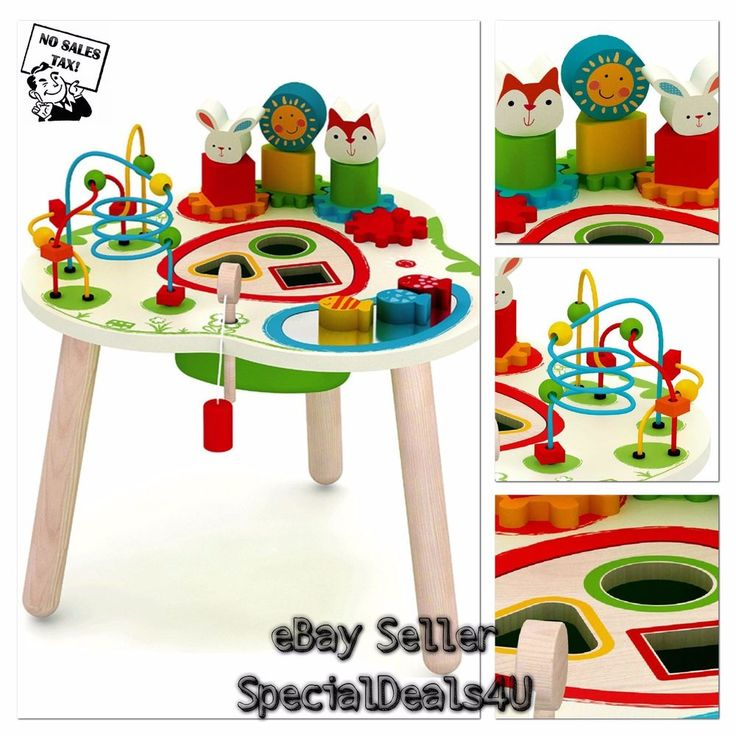 Activity Center Play Wooden Adventure Table Learning Toys Kids and Baby Toy New #SD4U