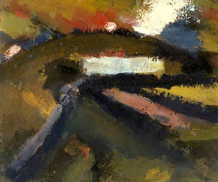 Painting: Annabel Gault, Path on Butser, Afternoon, June 1994