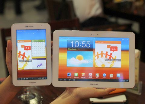 Galaxy Tab 10.1 and 7.0 Plus turn all White for Vietnam.