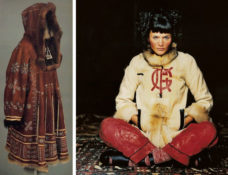 Mongolian coat and Jean Paul Gaultier Shearling Jacket
