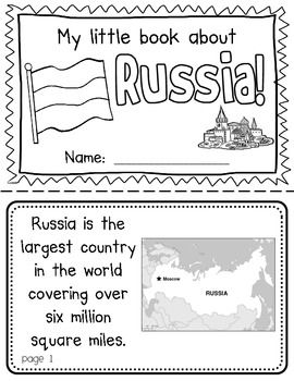 Russia Booklet (A Country Study!)-- Use during social studies units about countries around the world! TeachersPayTeachers