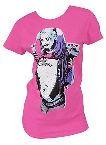 Suicde Squad Harley Quinn Pink T-Shirt