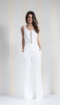 MACACÃO BIASES OFF WHITE - MAC2856-99 | Skazi e Skclub, Moda feminina, roupa casual, vestidos, saias, mulher moderna