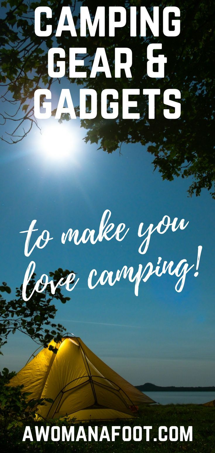 Are you ready to take your camping game to the next level? I got 10 awesome pieces of camping gear to provide you with safety, comfort, and entertainment during your next backpacking trip! Awomanafoot.com   #camping #hiking #backpacking #gear #gadgets #giftideas #GiftsforHikers #giftsForCampers #Outdoors #Adventure   Hiking & Camping Gear   How to sleep comfortably when camping   Best camping gear   Gift Ideas for Hikers and Campers  