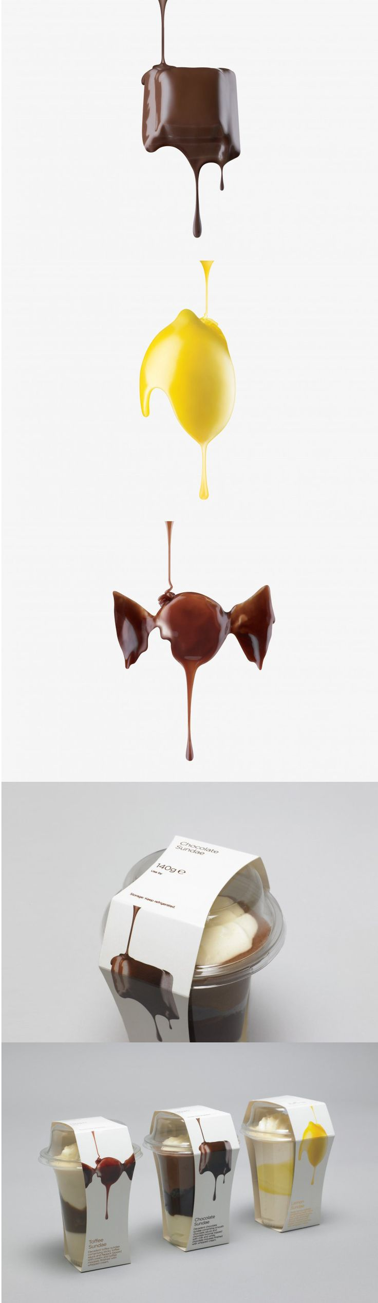 pinned this for the bottom bit... sleeves around the paper the ice cream goes in. an interesting idea for having the brand, the ingredients, etc all on one thing. inspiration for future packaging possibilities, not sure about the brand stuff. like it, though.