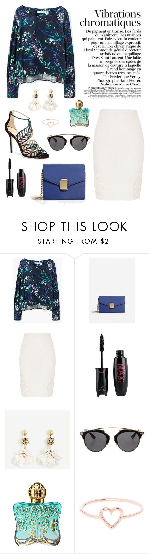 """""""jungle vibes"""" by zaazbymary ❤ liked on Polyvore featuring MANGO, River Island, Christian Dior, Anna Sui and Love Is"""
