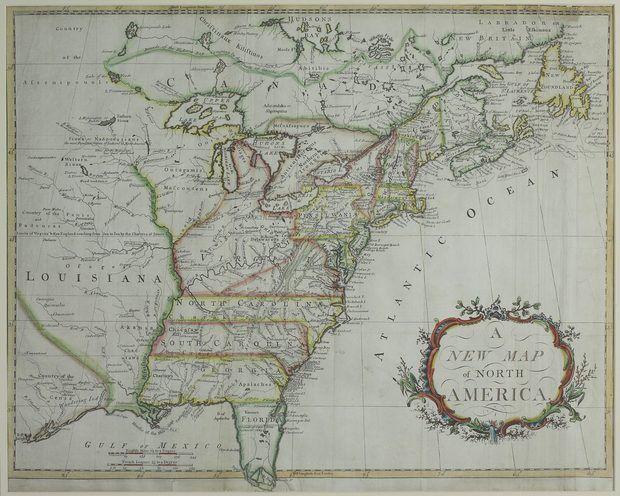 Características geográficas de las 13 colonias