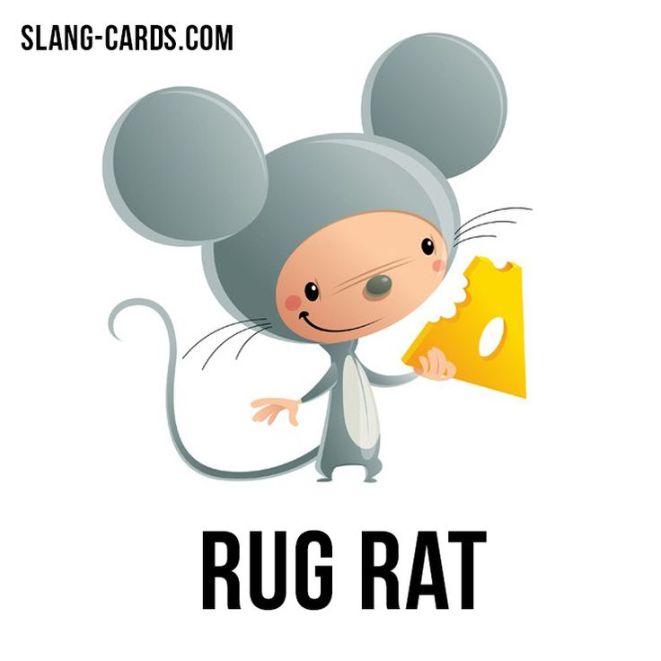 """Hi there! Do you have children in your family?  How do you call them in your language? We have a funny #slang word for today - """"Rug rat"""" (plural: rug rats), which means """"a young child, a toddler"""".  Its etymology is unknown - presumably from crawling on the floor. Date: ca. 1975. #englishslang #english #learnenglish"""