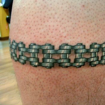 harley davidson tattoos   Harley Chain Tattoo Pictures