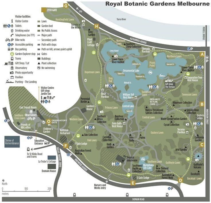 Melbourne Royal Botanic Gardens map