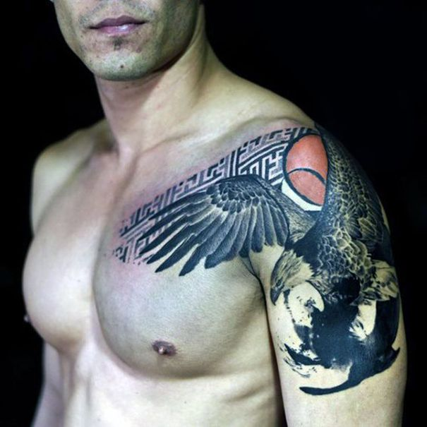 eagle tattoos for men on shoulder