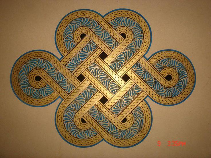 münhani, same form as Tibetan endless knot