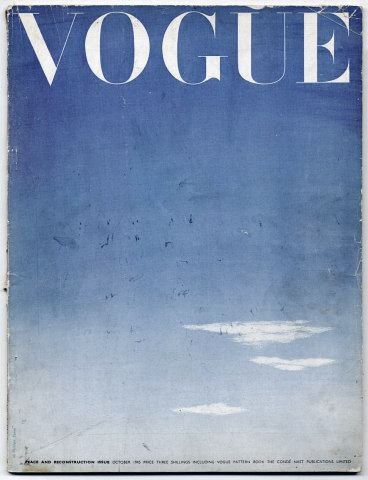 "Vogue ""Peace and Reconstruction issue"", Oct 1945."