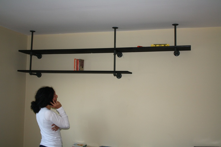 Image Result For Plumbing Pipe Shelves