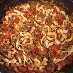 Bolognese mit Nudeln