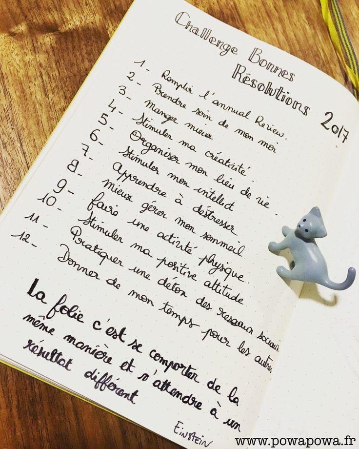 Challenge BONNES RÉSOLUTIONS bullet journal