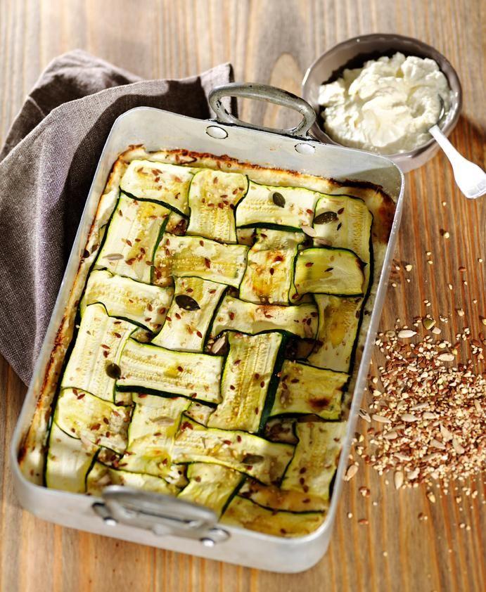 Woven Zucchini With Ricotta