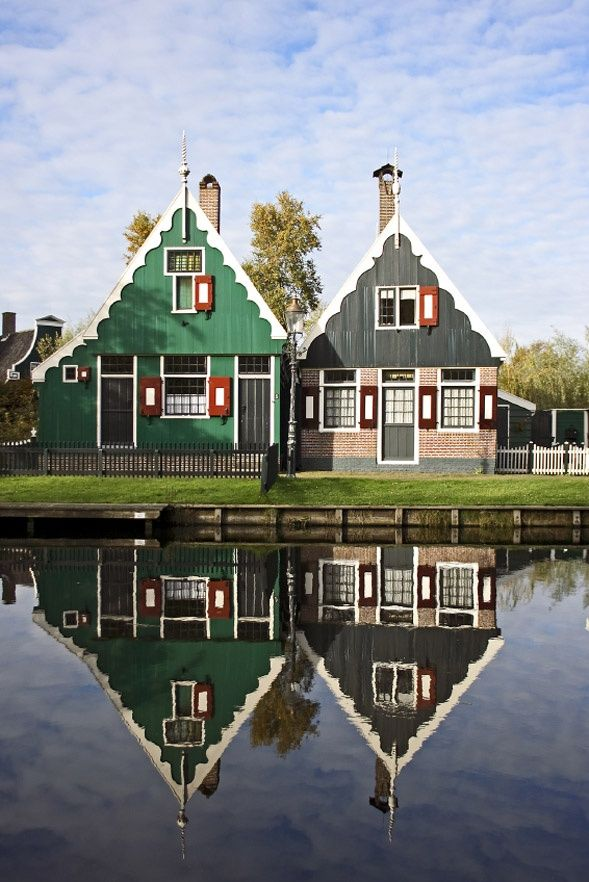 Old houses in the countryside, Netherlands
