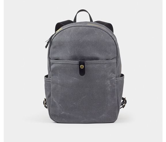WINTERSESSION - Day pack waxed cotton canvas backpack. Made in the USA.