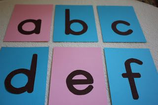 Little Tiger Growing Up: DIY: Sandpaper letters (with cardstock and sandpaper)