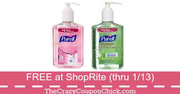 Score Free Purell Hand Sanitizer At Shoprite Thru 1 13 Hand