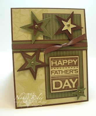 A great Father's Day card by Nancy Riley at iSTAMP.  I often struggle with masculine cards/pages, but this is perfect!