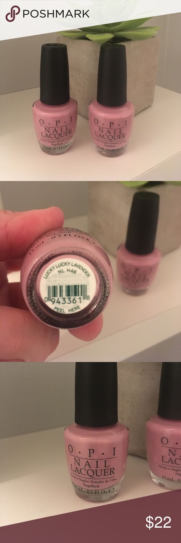 OPI New  Nail Polish 💅 Lucky Lucky Lavender Brand New 2 bottles of OPI nail Polish 💅 color Lucky Lucky Lavender opi Makeup