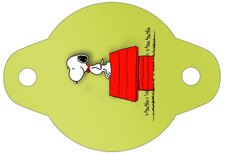Enfeite Canudinho Snoopy: