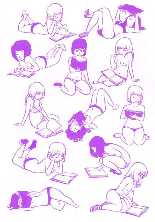 missaudreybrooks: Nothing sexier than girls and books, don't you agree?