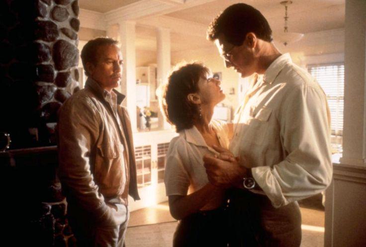 """""""Always"""" movie still, 1989.  L to R: Richard Dreyfuss, Holly Hunter, Brad Johnson."""