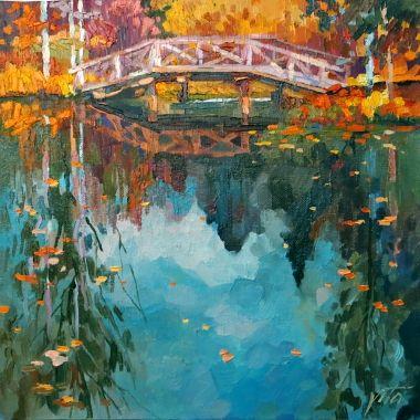 Картины :: Абрамцево. Отражения | Осень пруд мост | Купить картину у художника Vita