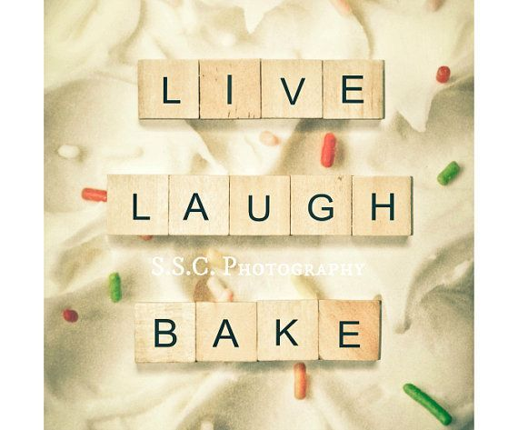 quote print baking quote live laugh bake gift by