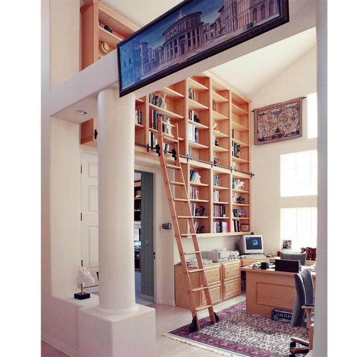 97 best bookshelves with library ladder images on ...
