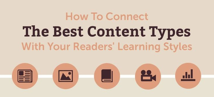 How to Connect the Best Content Types with your Reader Learning Styles
