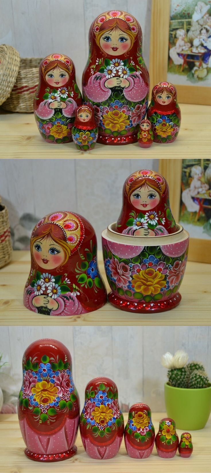 Matryoshka with daisies