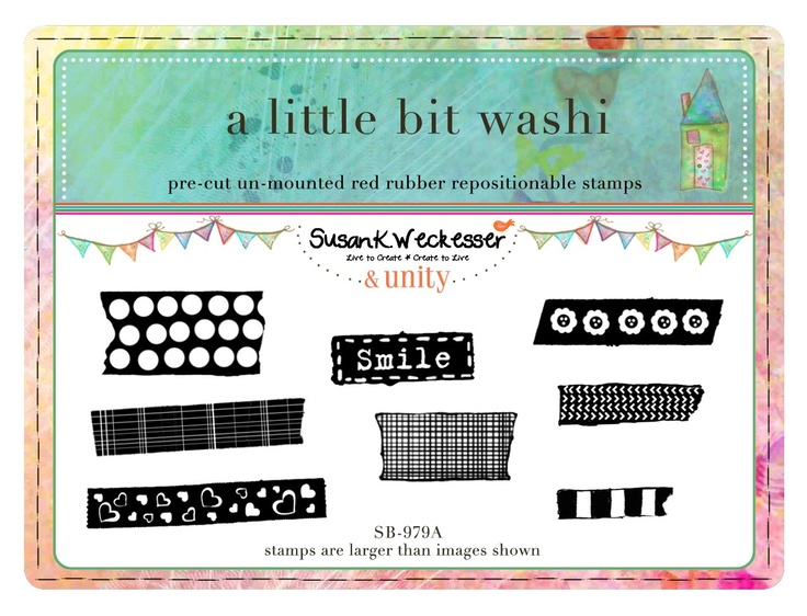 a little bit of washi - BRAND NEW by artist Susan Weckesser - Scrapbooking - Canvas Art - Mixed Media - SMASH books - EVERYTHING - enormous unique stamps at unity stamp company - available NOW!  http://www.unitystampco.com/shop/192-35-off-susan-weckesser.aspx