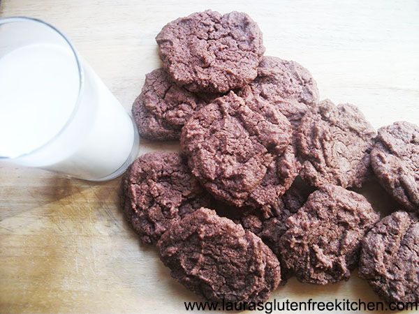 Gluten free and Eggless Chocolate chip Chocolate Cookies For this recipe you use condensed milk. Its the best way to make cookies and it is so easy, egg free and low cost to make.
