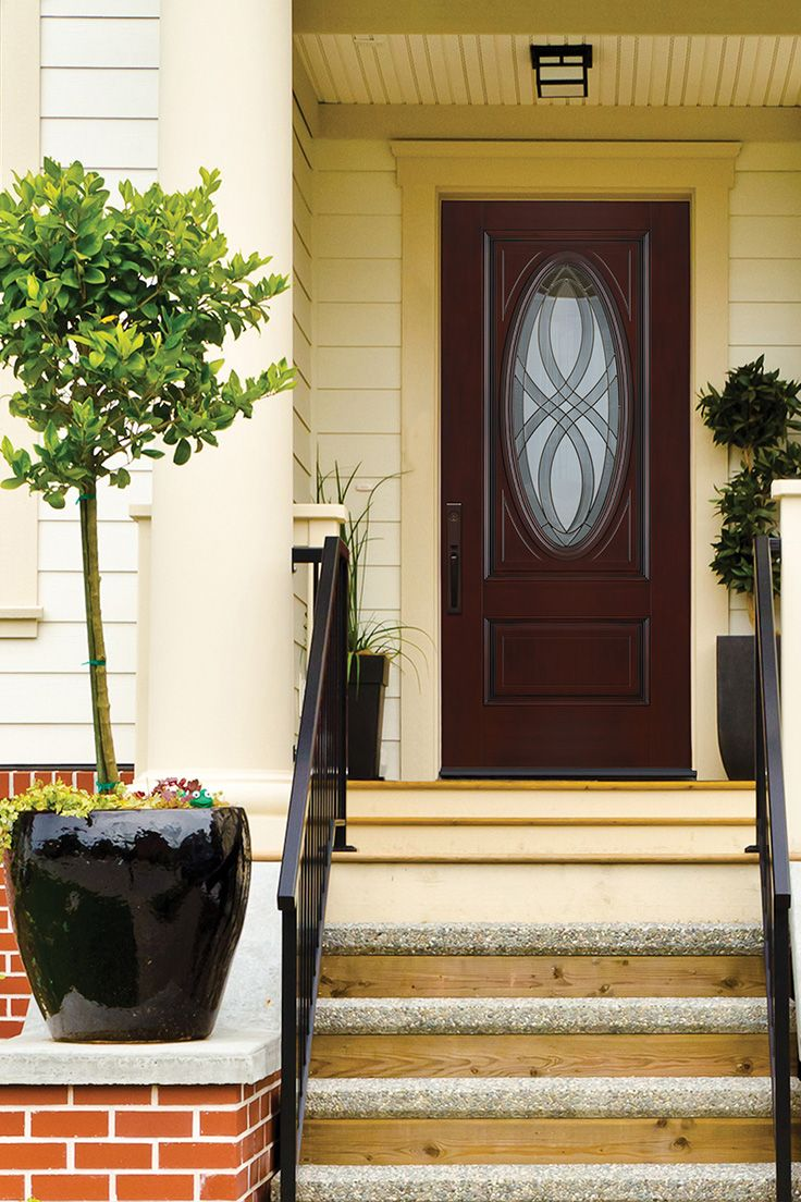 get the look and feel of a sturdy wood front door with the durability and energy