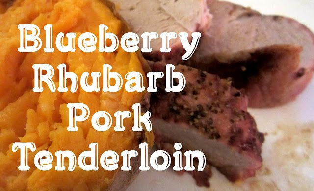 Reviews, Chews & How-Tos: Blubarb Pork Tenderloin #FantasticalFoodFight