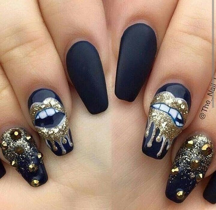 Black Gold Nail Art: 487 Best Images About Sexy And Dope Nails On Pinterest