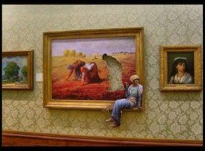 Sortir du cadre par Banksy
