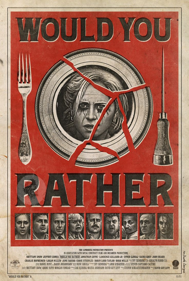 Would You Rather movie. The Dude Designs 'Would You Rather' Poster