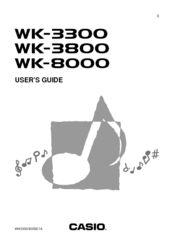 Casio WK-3800 User Manual