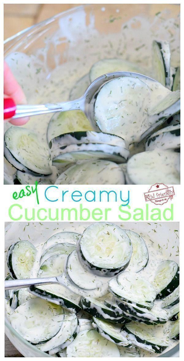 Creamy Cucumber Salad Recipe With Sour Cream Mayo And Dill Recipe Creamy Cucumber Salad Cucumber Recipes Salad Creamed Cucumber Salad