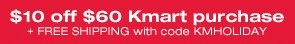 KMART 10 off/60 + free ship code (KMHOLIDAY) #coupon #code #couponcode #kmart